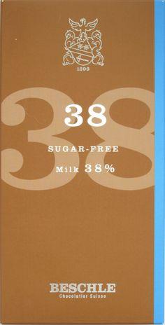 Beschle 38% Milchschokolade zuckerfrei
