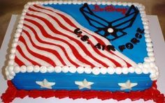 Air Force Going Away CAKE | air force cake