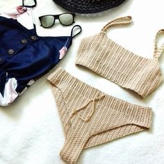 Vega Bikini Set. Free pattern with video tutorial.
