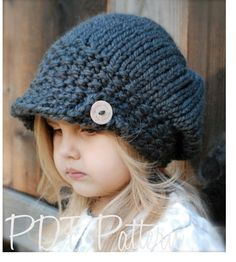 Knitting PATTERN-The Aralynn Slouchy (Toddler, Child and Adult sizes). $5.50, via Etsy.