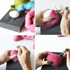 How To Make Felted Easter Eggs   Shelterness