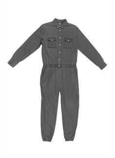 2ff1a10b6a Jumpsuits · Long Sleeve Jumper Grey Chambray Jogger Pants