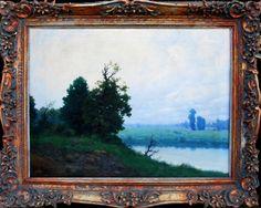 FERDINAND ENGELMÜLLER (1867 - 1924) Landscape with a pond, oil on canvas, about 1900
