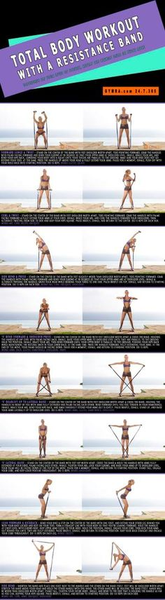 Total Body #Workout with a Resistance Band. Slash major calories and sculpt from head to toe. by candice