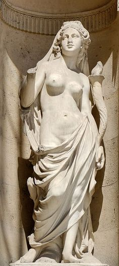 Victor Vilain (1818-1899) |  Dawn (1883). North façade of the Cour Carrée in the Louvre palace, Paris.