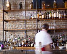 Parkside Austin - listed in Mike Sutter's Top 55 Austin Restaurants. Man Room, Austin Texas, Liquor Cabinet, Basement, Restaurants, Kitchen, Top, Design, Home Decor