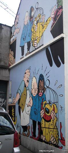 Blondin et Cirage_Artiste : Jigé_Rue des Capucins_Bruxelles/Brüssel (Belgique)_2011-08-07