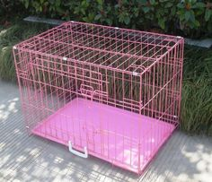 BestPet New Pink Pet Folding Suitcase Dog Cat Crate Cage Kennel Pen with ABS Tray, ** Continue to the product at the image link. (This is an affiliate link and I receive a commission for the sales) Pink Dog Crate, Cat Crate, Large Dog Crate, Dog Cages, Pet Cage, Wire Dog Crates, Cat Dog, Best Dog Training, Dogs