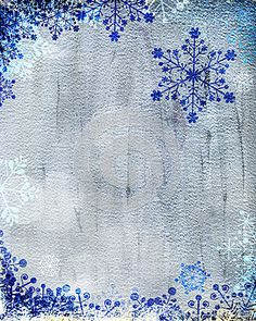Really pretty printable silver and blue Christmas cards