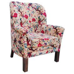 Floral Velvet Chair