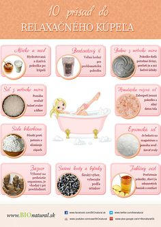 Uvoľnite sa aoddýchnite si – je čas na relaxačný kúpeľ [Infografika] - Bionatural blog Natural Solutions, Natural Cosmetics, Homemade Beauty, Detox, Blog, Natural Beauty Products