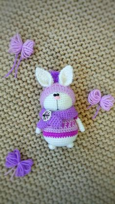375ada87f0b1 Crochet miniature Bunny Miniature Rabbit amigurumi Rabbit souvenir Rabbit  in gift Rabbit yarn Mini
