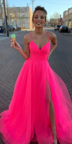 🔥🔥🔥 Hot pink prom dress Related posts:Plus Size Prom Dresses, Charming A Line Sweetheart Spaghetti Straps Slit Pink Long Prom Dresses, Bea.A-line Tulle Lace Applique Grey Long Prom Dresses, 15250 from AthenabridalRed log prom. Homecoming Dresses Long, Pretty Prom Dresses, Simple Prom Dress, Pink Prom Dresses, Tulle Prom Dress, Cheap Prom Dresses, Graduation Dresses, Formal Evening Dresses, Cute Dresses