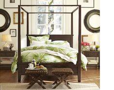 palm leaf bedding natural style bedroom