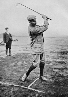 Harry Vardon Iron Shot, #golf #HarryVardon