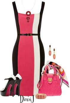 Vestido tubinho preto com listra colorida