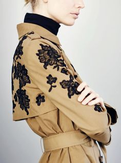 lace applique trench