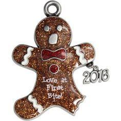 Glitter Gingerbread Man Ornament, Silver