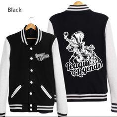 League of Legends baseball jacket for men Caitlyn sweatshirt XXXL