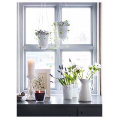 IKEA   SKURAR Plant Pot Off White Indoor/outdoor,