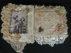 One of a Kind Shabby Chic Mixed Media Collage Book by KISoriginals