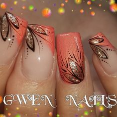 Classy Nails, Fancy Nails, Bling Nails, Trendy Nails, Classy Nail Designs, Creative Nail Designs, Nail Art Designs, Nail Deco, Art Deco Nails