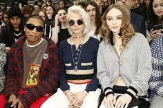 #PharrellWilliams, #CaraDelevingne and #lilyrosedepp at #ChanelGroundControl  #intothemood #chanelfw17 #socialfashionnetwork
