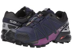 the latest 64770 8d565 Salomon Speedcross 4 Nocturne GTX(r) Women s Shoes Evening Blue Reflective  Silver Grape Juice