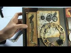 fun idea for wedding collage - some steampunk/vintage stuff. I love the little pocket built in for the wedding invitations, etc