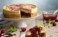 Browncheese s malinovým coulis Lidl, Cheesecakes, Brownies, Sweet Tooth, Sweets, Recipes, Food, Basket, Grout