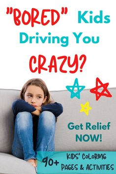 """Are your """"bored"""" kids driving you absolutely crazy?! Get relief from the complaining now with the ULTIMATE kids' coloring pages and kids' activity pages collection. It includes 90 coloring pages, activity pages, and games that will keep them occupied for hours. Loving it! #kidscoloringbook #kidsactivitybook #coloringpagesforkids #kidssudoku #kidscoloringpages Summer Coloring Pages, Coloring Pages For Kids, Kids Coloring, Coloring Books, Kids Activities At Home, Activities For 2 Year Olds, Summer Activities, Preschool Activities, Kids Word Search"""