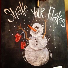 Over 10 colorful holiday chalkboard walls to make your home merry and bright!