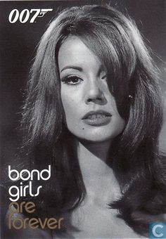 Trading cards - Women of James Bond - Claudine Auger as Domino Derval Claudine Auger, Ursula Andress, James Bond Movies, Bond Girls, Hollywood Icons, French Actress, Vintage Beauty, Portrait, Actors & Actresses