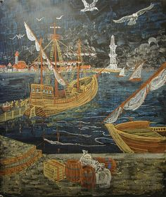 Waldorf ~ ? grade ~ History ~ Marco Polo ~ chalkboard drawing