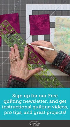 You're Invited! You've been invited to get instructional Quilting videos, fun projects, and expert tips Quilting For Beginners, Sewing Projects For Beginners, Quilting Tutorials, Quilting Projects, Quilting Designs, Fun Projects, Quilting Tips, Patchwork Quilt Patterns, Sewing Patterns