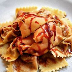 Tortelli pumpkin and foie gras with a port wine reduction sauce... I bit rich for the season but soooo damnnn goooodddd!!! :)  private chef in #newyork and #shanghai#中国#foodie#food #foodpic#上海 #fun#happy#zaishanghai#love#instalove#tagsforlikes#foodporn#먹스타그램#instagood#Nomnom#instafood#delicious #instatravel#italy#me#TheArtOfPlating#vsco#instachef#dinner#lunch#amazing#yummy#foiegras by taste_lab