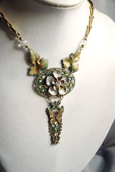 Leaf Princess Necklace  Fantasy Faerie Elf Leaves by bionicunicorn, $74.00