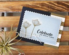 Celebrate the Simple Things Card by Lizzie Jones for Papertrey Ink (May 2018)