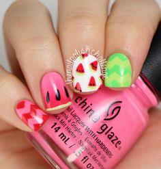 Watermelon Nail Art nail art by Kelli D