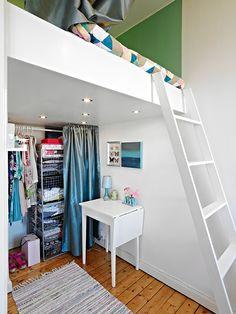 spare room idea: closet + guest bed @ Alla bilder