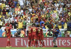 SOBRE EL FINAL Origi marca el 1 a 0 que le dió la victoria a Bélgica sobre Rusia (AFP)