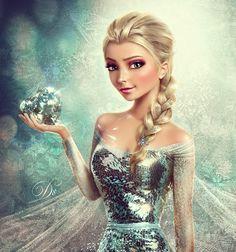 Frozen (Elsa) by AllaD8.deviantart.com on @deviantART [my goodness, this is amazing]