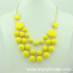 Yellow Necklace, Bubble Necklace,Bib Bubble Necklace,Bridesmaid Gifts, Bubble Necklace, Holiday,Birthday$16.00