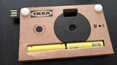 IKEA Cardboard Digitial Camera in the making? A great novelty item, I guess.