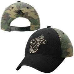 Miami Heat adidas Team Nation Adjustable Slouch Hat – Black/Camo