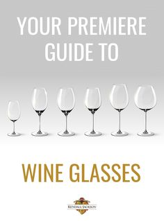 "How much do wine glasses matter? They matter a lot. That's why we're offering this ""Premier Guide to Types of Wine Glasses."" Wine glass shapes and sizes absolutely make a difference in how we experience wines. The differences between red and white wine glasses, as well as sweet wine glasses and sparkling wine glasses, have significant effects."