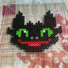 Toothless HTTYD perler beads by eliadeh