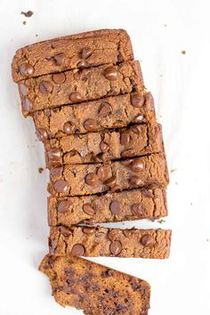 Pumpkin Banana Bread with Chocolate Chips Kürbis-Bananen-Brot mit Schokoladen-Chips (Paleo) – Wholesomelicious Banana Bread Coconut Oil, Banana Bread Cake, Pumpkin Banana Bread, Sugar Pumpkin, Healthy Banana Bread, Paleo Bread Recipe Easy, Paleo Recipes, Bread Recipes, Paleo Chocolate