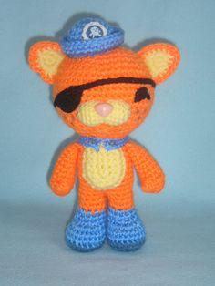 Octonauts Kwazii toy cat crochet pattern PDF by MarinaMandarina, £4.00