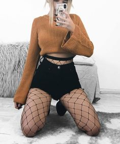 Uploaded by Maria Maria. Find images and videos on We Heart It - the app to get lost in what you love. Grunge Outfits, Punk Outfits, Teen Fashion Outfits, Cute Casual Outfits, Retro Outfits, Goth Outfit, Fishnet Outfit, Aesthetic Grunge Outfit, Aesthetic Clothes